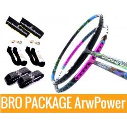 Bro Package ARROW POWER: Victor Arrow Power 9000 (3U-G5) + Victor Arrow Power 990 (4U-G5) + 2 pieces Karakal grips + 2 Velvet covers + 2 pairs socks