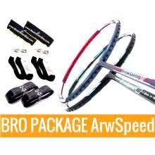 Bro Package ARROW SPEED: Victor Arrow Speed 10 (3U-G5) +Victor Arrow Speed 11 (3U-G5) + 2 pieces Karakal grips + 2 Velvet covers + 2 pairs socks