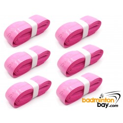 PINK Limited Edition Badminton Bay Racket Hyper PU Grip (6 Pieces) Super PU Replacement Grip PU111
