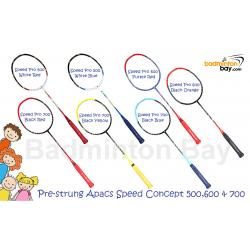 Junior Bundle : 3 pieces Apacs Speed Pro 500 , 600 , 700 Badminton Racket With Full Covers + 3 pieces PU Grips
