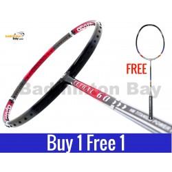 Buy 1 Free 1: Apacs Lethal 60 Badminton Racket (3U)