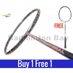 Buy 1 Free 1: Apacs Tweet 8000 International Grey Badminton Racket (3U)