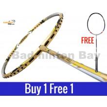 Buy 1 Free 1: Apacs Virtuoso Pro Gold Badminton Racket (3U)