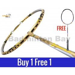 Buy 1 Free 1: Apacs Virtuoso Pro Gold Badminton Racket (3U)