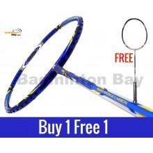 Buy 1 Free 1: Apacs Virtuoso Pro Blue Badminton Racket (3U)