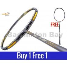 Buy 1 Free 1: Apacs Ziggler LHI PRO Grey (Lee Hyun-il) Badminton Racket Compact Frame (4U)