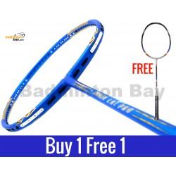 Buy 1 Free 1: Apacs Ziggler LHI PRO Blue (Lee Hyun-il) Badminton Racket Compact Frame (4U)