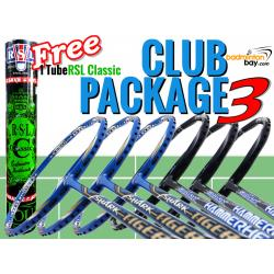 Club Package 3 : 6 Rackets - 3x Abroz Shark Tiger +  3x Abroz Shark Hammerhead Badminton Racket + FREE 1 Tube RSL Classic Shuttlecocks