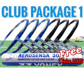 Club Package 1 : 6 Rackets - 3x Abroz Shark Tiger +  3x Abroz Shark Hammerhead Badminton Racket + FREE 1 Tube Yonex AS30 Shuttlecocks