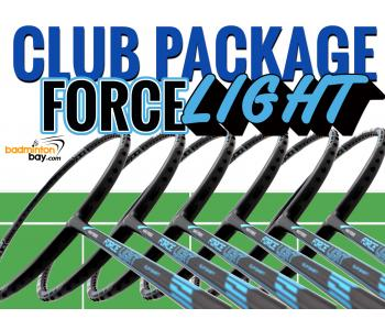 Club Package FORCE LIGHT - 6 pieces rackets : Abroz Nano Power Force Light Badminton Racket (6U)