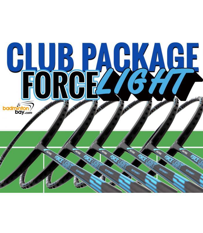 Club Package FORCE LIGHT - 6 pieces rackets : Abroz Nano Power Force Light Badminton Racket (6U)
