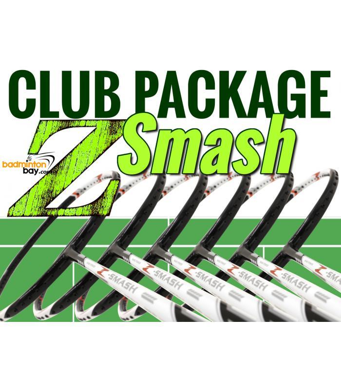Club Package Z-Smash - 6 pieces rackets : Abroz Nano Power Z-Smash Badminton Racket (6U)