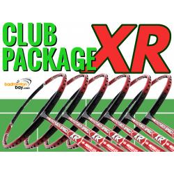 Club Package XR - 6 pieces rackets : Apacs Nano Fusion Speed XR Red Black (6U) Badminton Racket