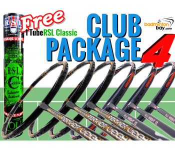 Club Package 4: 6 Rackets - 3x Apacs Feather Weight X Special (XS) +  3x Apacs Flyweight 10 Badminton Racket + FREE 1 Tube Yonex RSL Classic Shuttlecocks