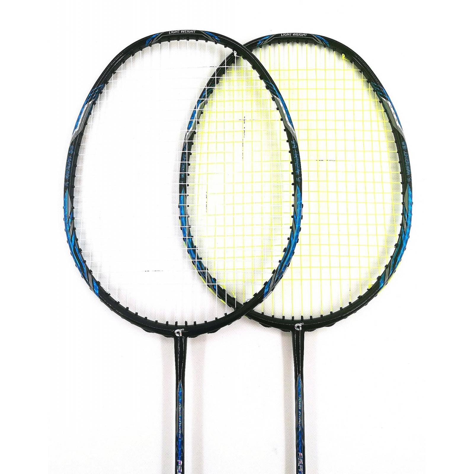 30% OFF 2x APACS FEATHER WEIGHT 55 BLACK BADMINTON RACKET ...