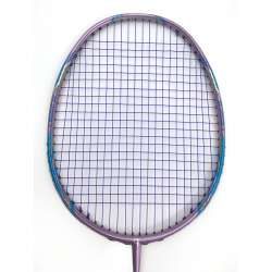 30% OFF Apacs Feather Weight 55 Purple Badminton Racket (8U) Worlds Lightest Badminton Racket Strung With Royal Blue Fleet Ultramax Turbo Nano 66 String @ 24 lbs