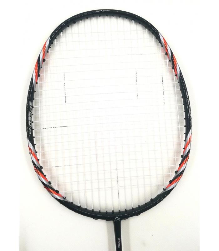 30% OFF (C) Abroz Nano 9900 Power Badminton Racket (5U) Strung with White Yonex BG 65 Titanium String @ 25 lbs Slight Paint Defect (refer picture)