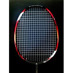 35% OFF Apacs EdgeSaber Z Slayer Black Gold Compact Frame (4U) Badminton Racket Strung with White Abroz DG67 Power String @ 23 lbs