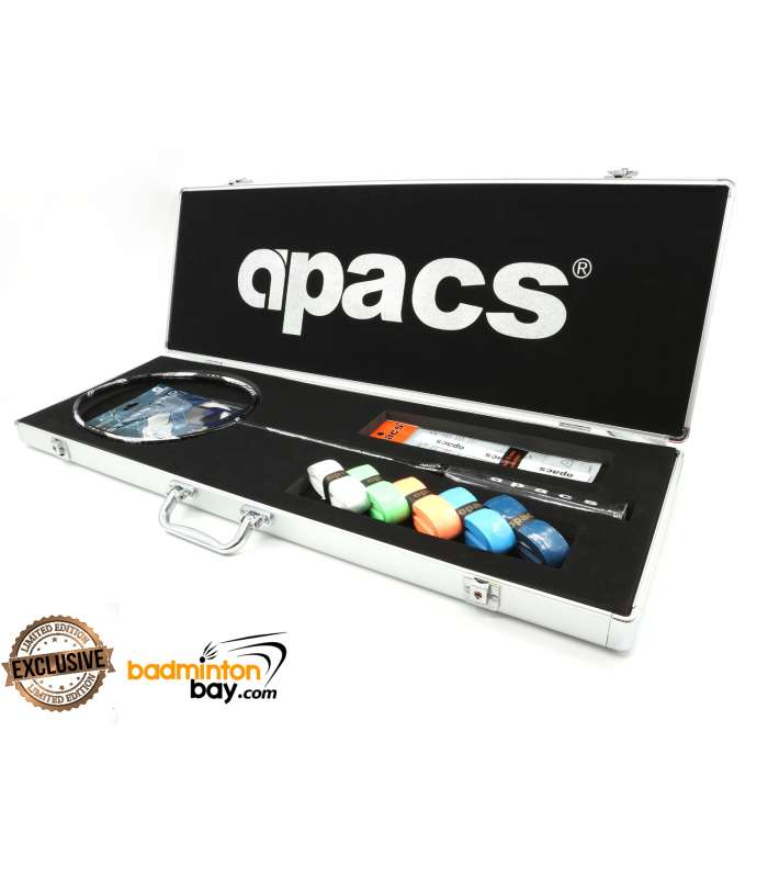 Apacs Feather Weight X Black Silver Badminton Racket (8U) In Special Apacs Limited Edition Case Worlds Lightest Badminton Racket