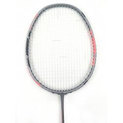 25% OFF Yonex DUORA 77 Black Red & Grey  Badminton Racket DUORA-77 (3U-G5) Strung With White Abroz DG67Power string @ 24 lbs