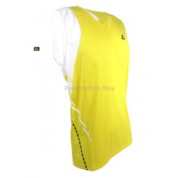 Fischer Men's Sleeveless Dri-Fast T81008 Yellow Breathable Fabric T-Shirt Jersey