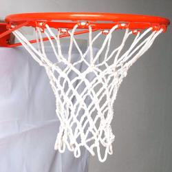 GTO All-white Tournament Grade GT45 8mm Braided Heavy Duty High Quality Basketball Nylon Net