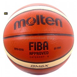 ~Out of stock Molten GM6X Basketball (BGM6X) Composite Leather FIBA Approved Size 6