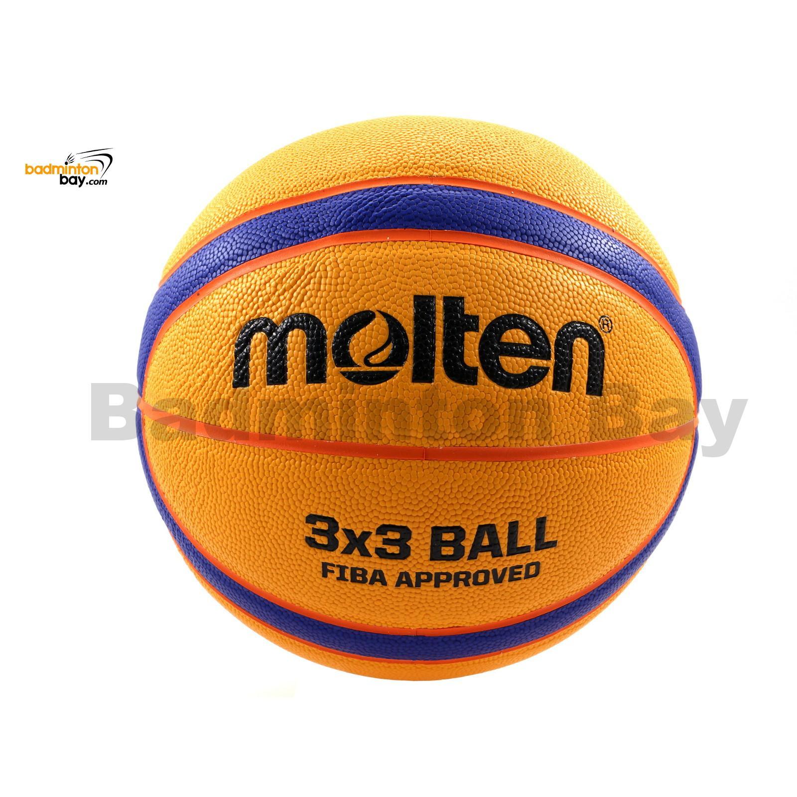 yellow//blue//orange 6 Molten Unisex Adult Basketball ball B33T5000 Fiba 3x3 Basketball Balls