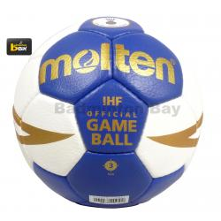 Molten H3X5001-BW H2X5001-BW Handball New White Blue Color IHF Approved Official Game Ball Hand Stitched