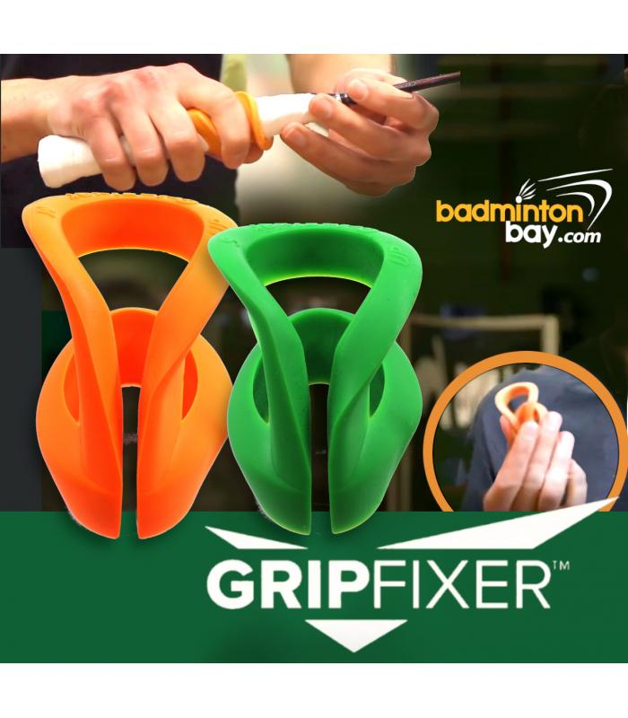2 Pieces Gripfixer Grip Corrector Training Tool Made In Denmark For Effective Coaching To Correct Finger Placement On Badminton Handle
