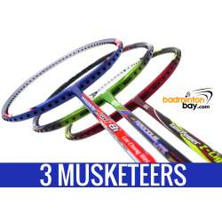 Three Musketeers Bundling (3 Rackets): 1x Abroz Nano Power Z-Light, 1x Apacs Ferocious Lite Green, 1x Yonex - Nanoray Light 8i iSeries Badminton Racket