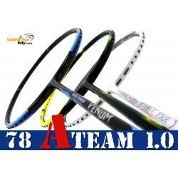 78 A-TEAM 1.0 Bundling (3 Rackets): 1x Yonex Astrox 2 Black Yellow 5U-G5, 1x Abroz Nano Power Venom 6U & 1x Apacs Nano Fusion Speed 722 White 6U