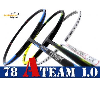 78 A-TEAM 1.0 Bundling (3 Rackets): 1x Yonex Astrox 2 Black Yellow 5U-G5, 1x Abroz Nano Power Venom 6U & 1x Apacs Nano Fusion Speed 722 White 6U