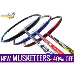 New Three Musketeers Bundling (3 Rackets): 1x Abroz Nano Power Z-Light, 1x Apacs Blend Duo 88 Black, 1x Yonex - Nanoray Light 8i iSeries Badminton Racket
