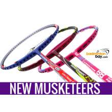 New Three Musketeers Bundling (3 Rackets): 1x Abroz Nano Power Z-Light, 1x Apacs Blend Duo 88 Pink, 1x Yonex - Nanoray Light 8i iSeries Badminton Racket
