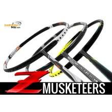 Z Musketeers Bundling (3 Rackets): 1x Abroz Nano Power Z-Smash 6U, 1x  Apacs Feather Weight X 8U, 1x Yonex Astrox 2 Black Yellow 5U-G5