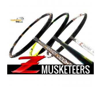 Z Musketeers Bundling (3 Rackets): 1x Abroz Nano Power Z-Smash 6U, 1x  Apacs Feather Weight XS 8U, 1x Yonex Astrox 2 Black Yellow 5U-G5