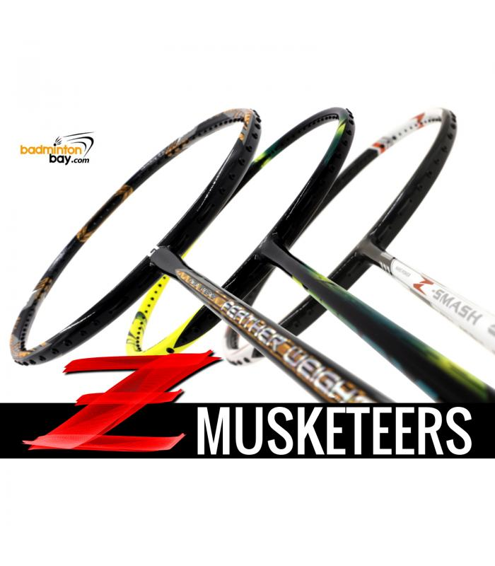 Z Musketeers Bundling (3 Rackets): 1x Abroz Nano Power Z-Smash 6U, 1x  Apacs Feather Weight X 8U, 1x Yonex Astrox 2 Black Yellow 5U-G5