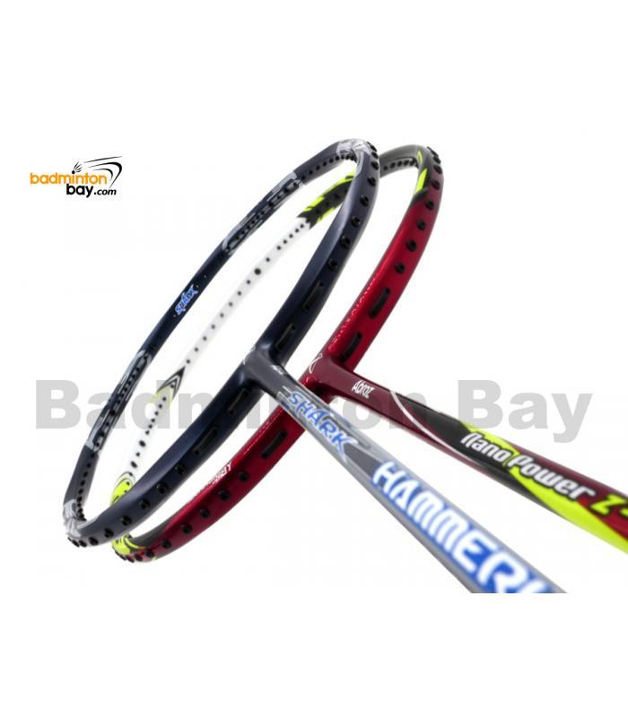 2 Pieces Deal: Abroz Shark Hammerhead + Abroz Nano Power Z-Light Badminton Racket