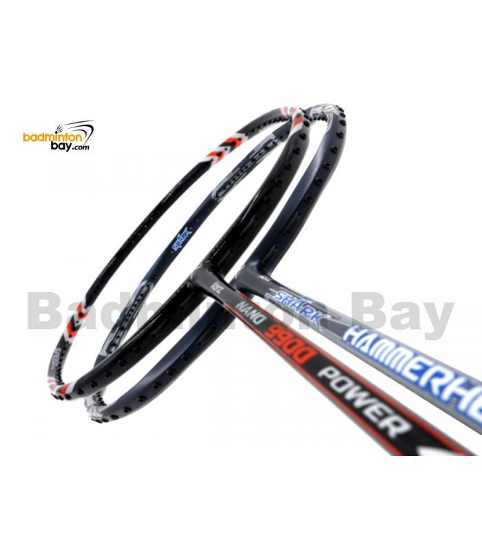 2 Pieces Deal: Abroz Nano 9900 Power + Abroz Shark Hammerhead Badminton Racket