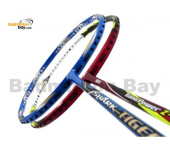 2 Pieces Deal: Abroz Shark Tiger + Abroz Nano Power Z-Light Badminton Racket