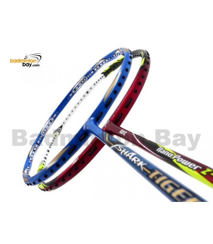 2 Pieces Deal: Abroz Shark Tiger + Abroz Nano Power Z-Light Badminton Racket