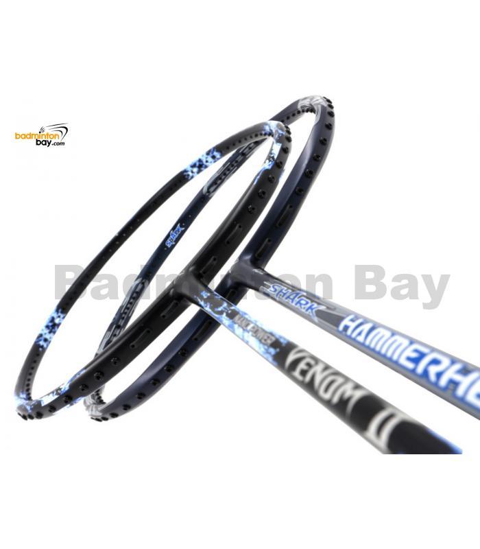 2 Pieces Deal: Abroz Nano Power Venom II + Abroz Shark Hammerhead Badminton Racket