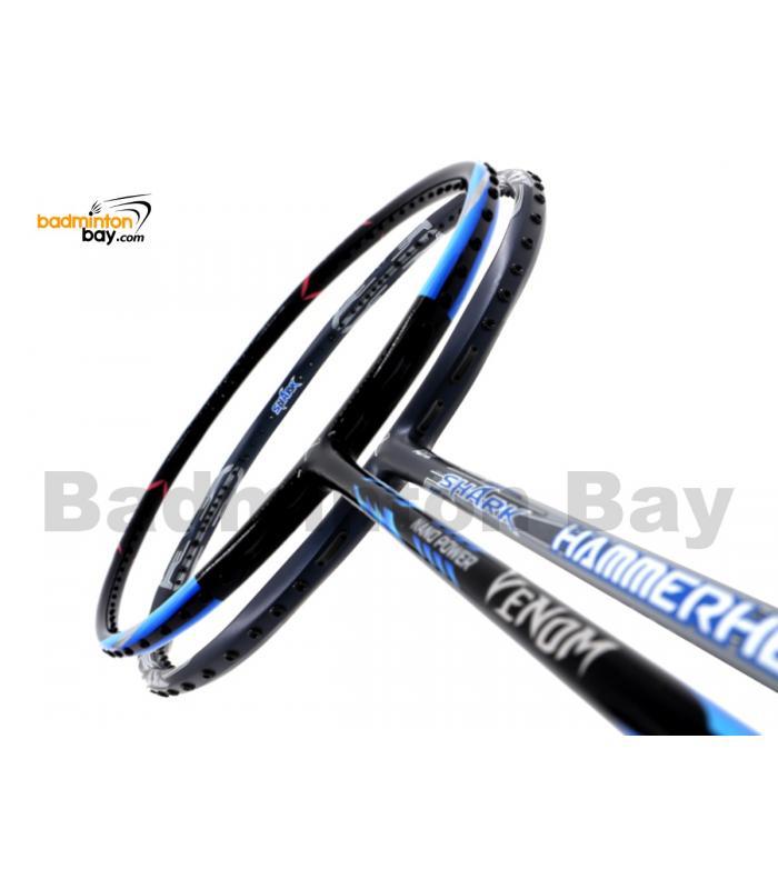 2 Pieces Deal: Abroz Nano Power Venom + Abroz Shark Hammerhead Badminton Racket