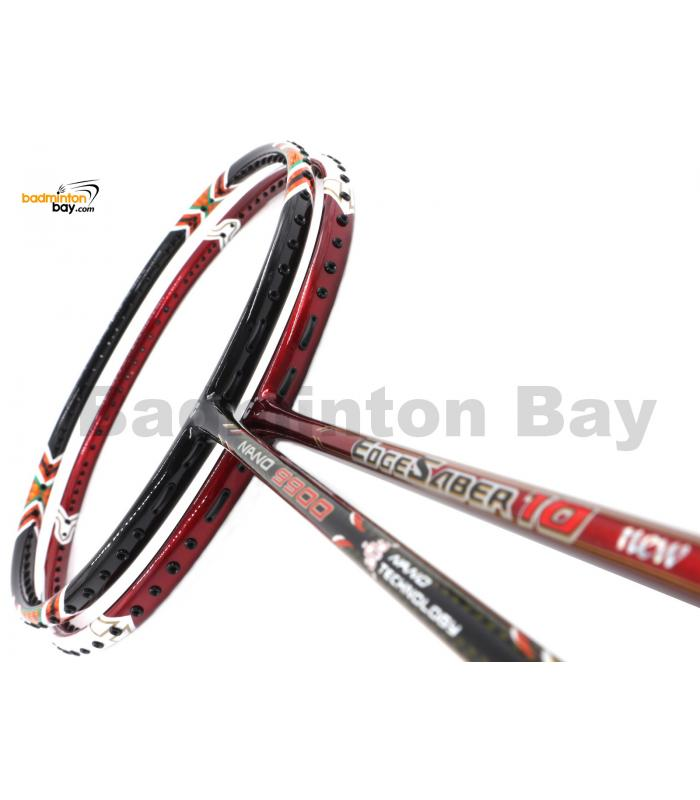 2 Pieces Deal: Apacs EdgeSaber 10 Red + Apacs Nano 9900 Badminton Racket