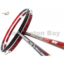 2 Pieces Deal: Apacs Nano Fusion Speed 722 Red + Apacs Edgesaber 10 Red Badminton Racket
