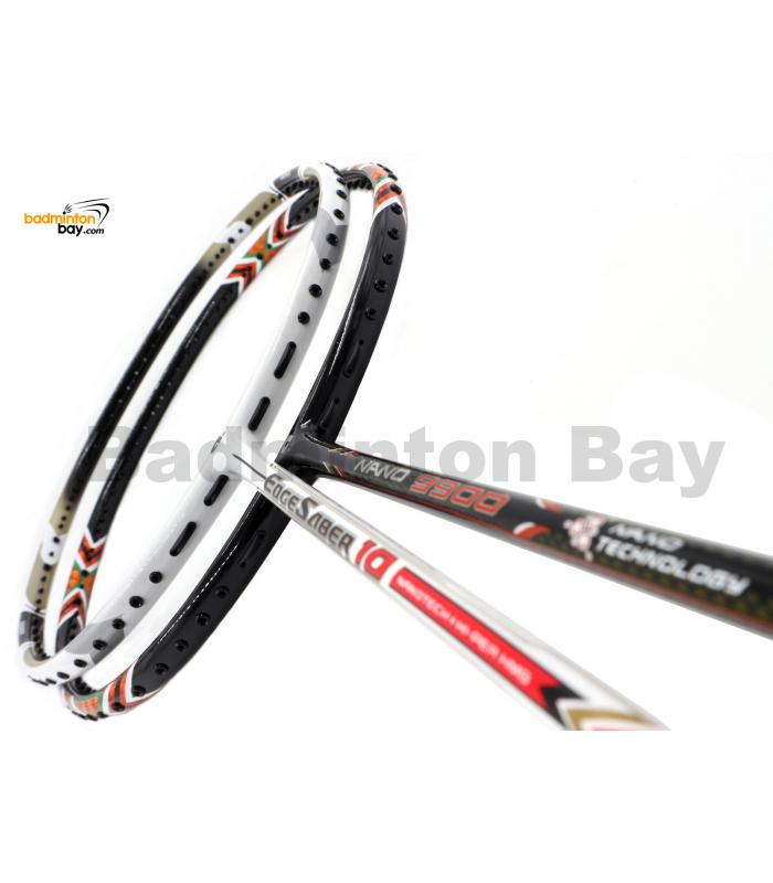 2 Pieces Deal: Apacs EdgeSaber 10 White + Apacs Nano 9900 Badminton Racket
