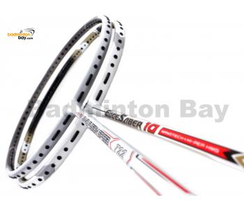 2 Pieces Deal: Apacs Nano Fusion Speed 722 White + Apacs EdgeSaber 10 White Badminton Racket