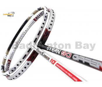 2 Pieces Deal: Apacs Stern 90 Offensive + Apacs Edgesaber 10 White Badminton Racket