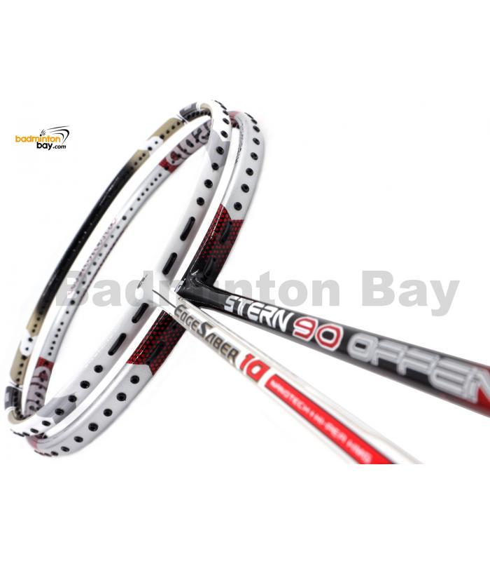 2 Pieces Deal: Apacs Stern 90 Offensive + Apacs Edgesaber 10 White Badminton Racket
